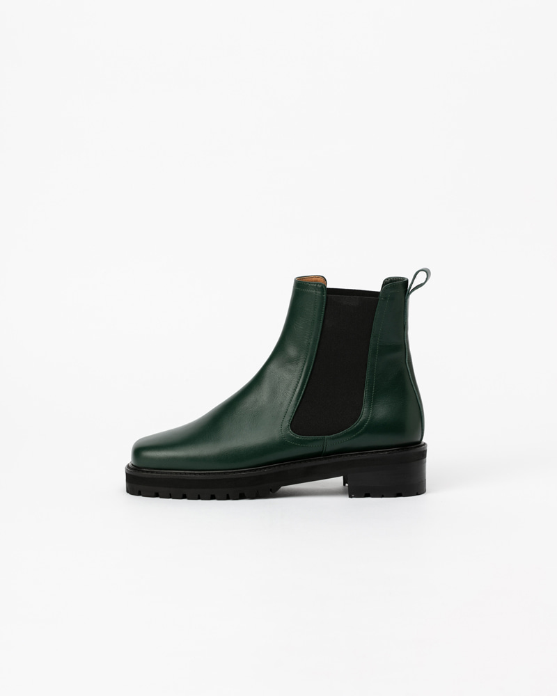 Flint Chelsea Boots in Deep Green