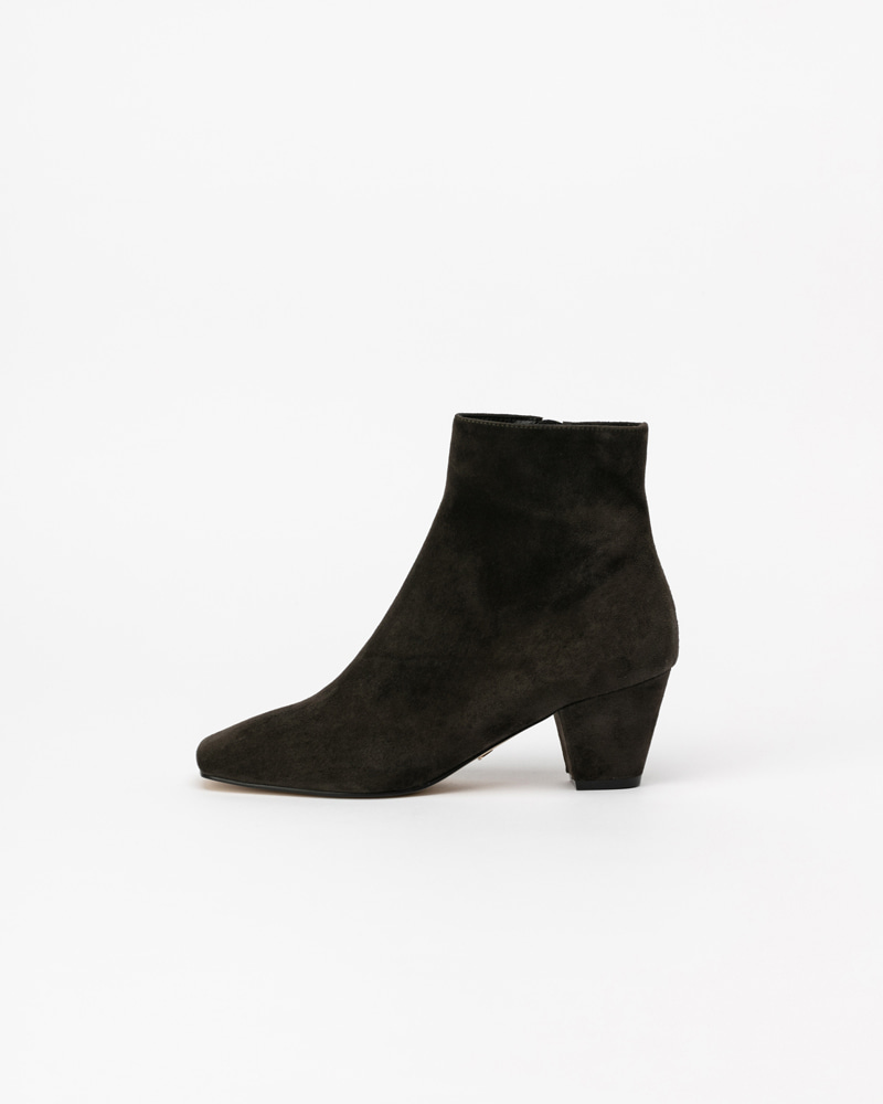 Jacky Boots in Charcoal Grey Suede