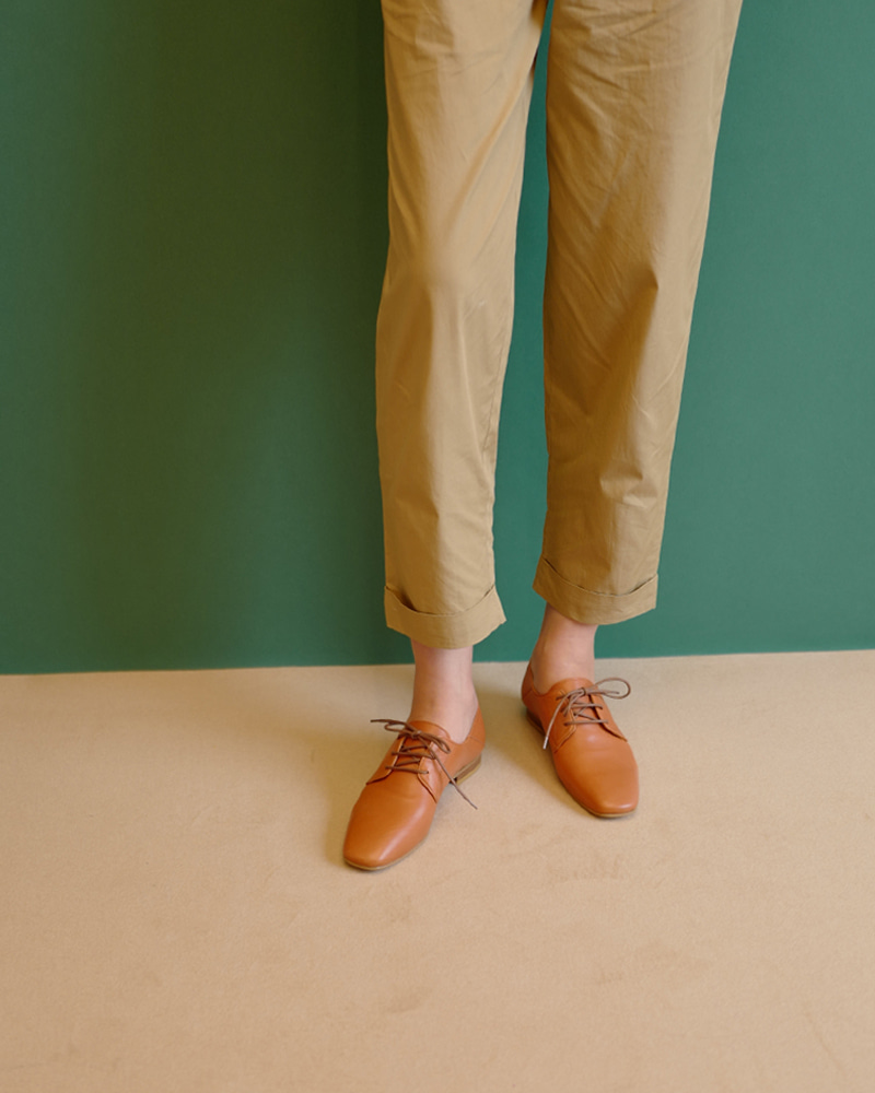 Sanity Loafers in Orange Brown Calf