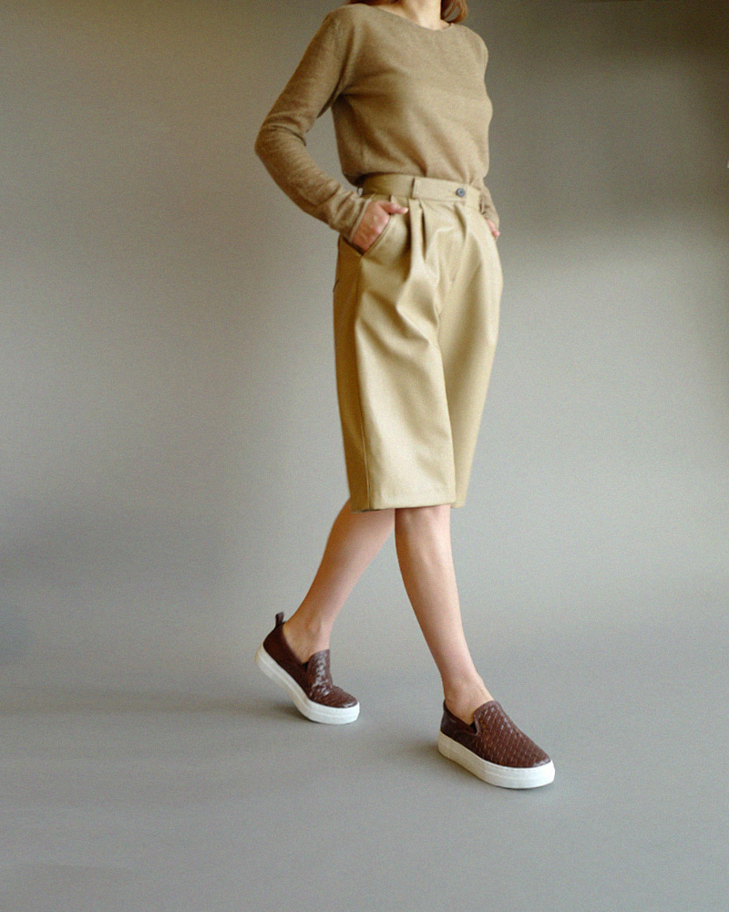 Fino Slip-on Sneakers in Brown