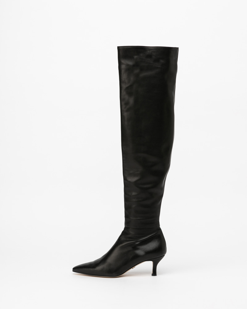 Cosine Thigh-high Boots in Black