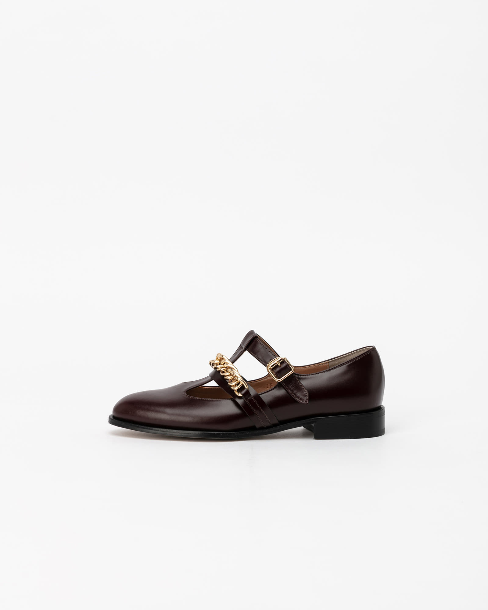 Hellen Chained Loafers in Cherry Brown
