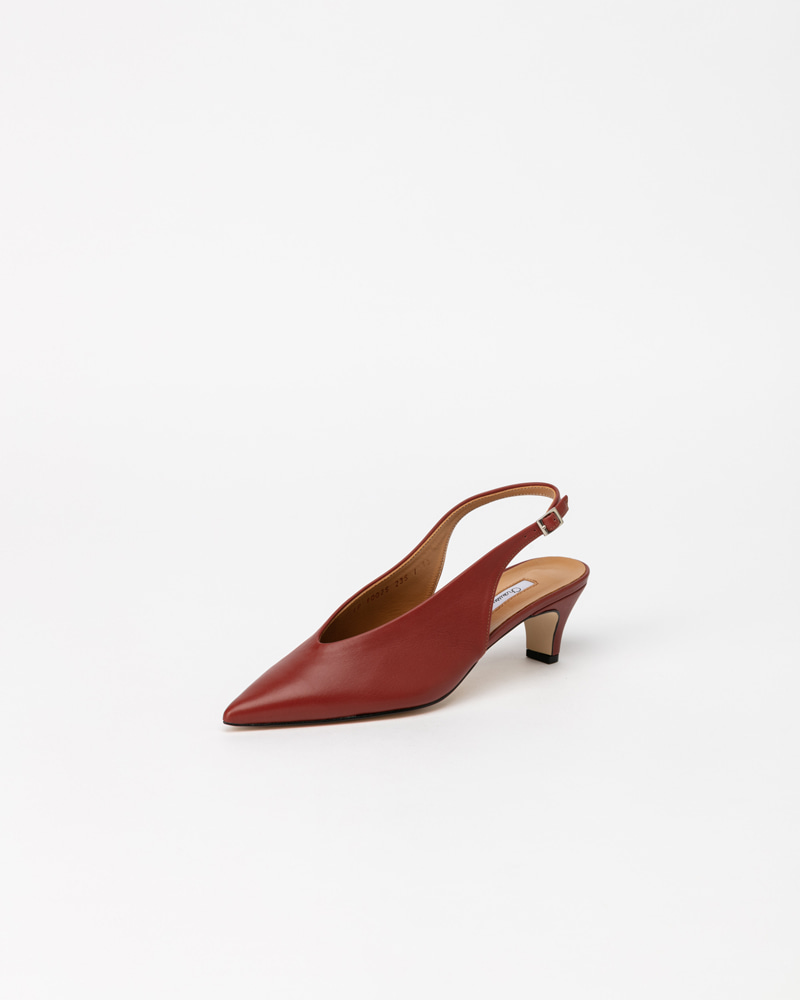 Lapointe Slingbacks in Orange Brown Calf