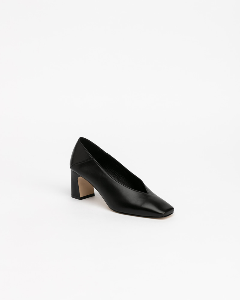 Michelle Pumps in Black Calf