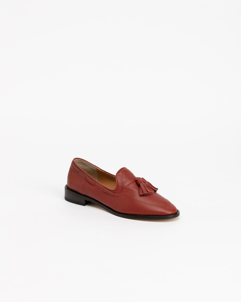Veron Loafers in Orange Brown Calf