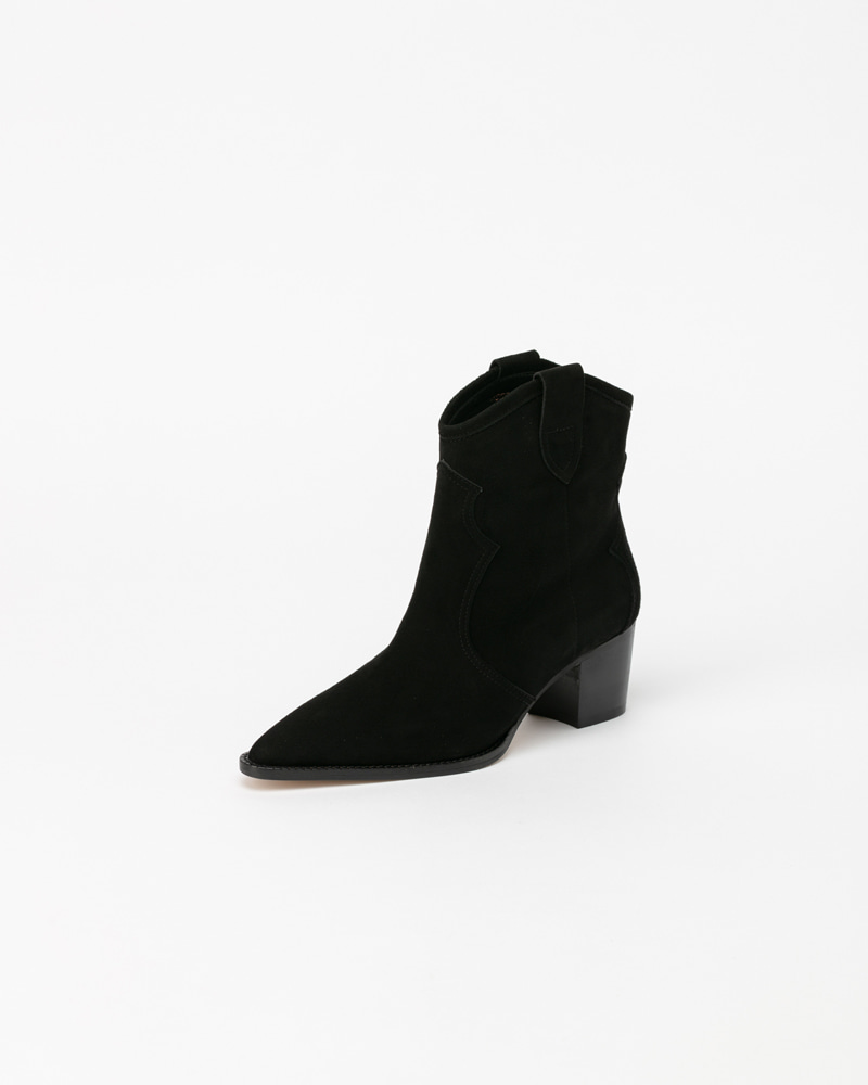 Damir Boots in Black Suede