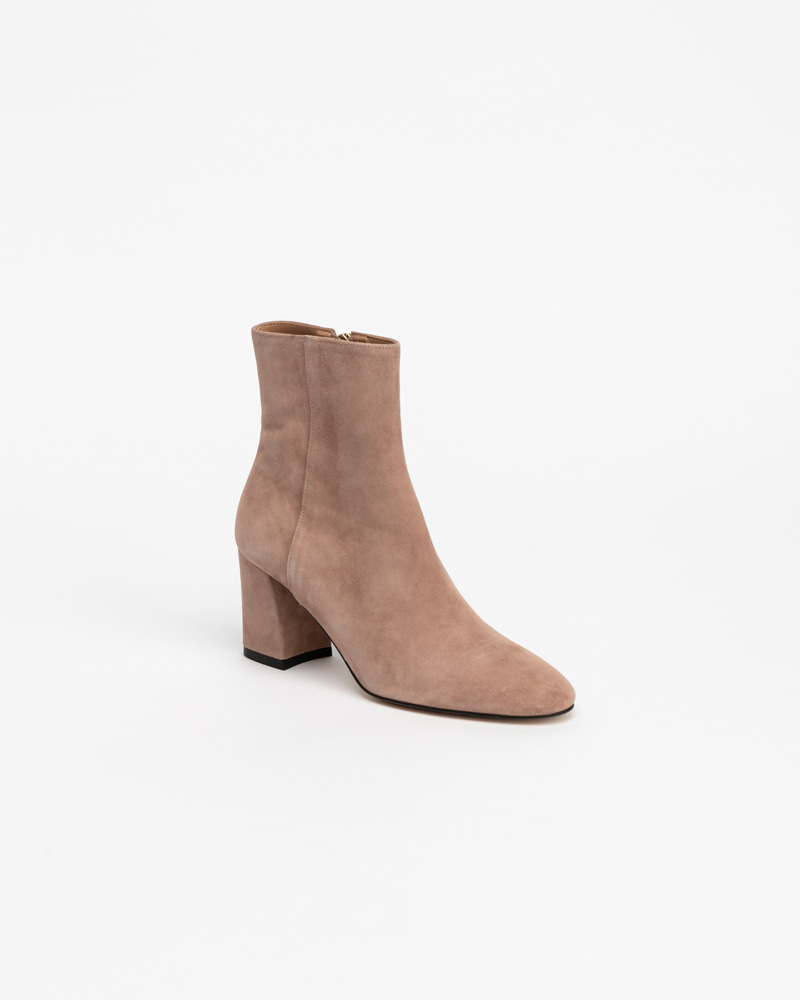 Soleil Boots in Pink Suede