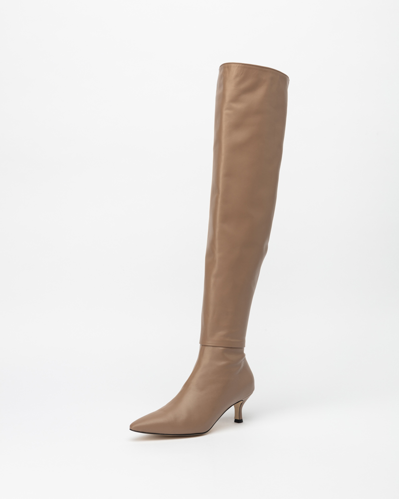 Cosine Thigh-high Boots in Sand Gray