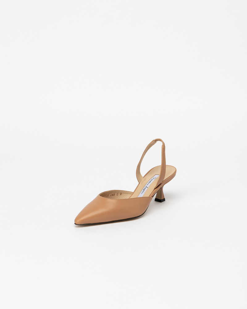 Laplaine Slingbacks in Beige Calf