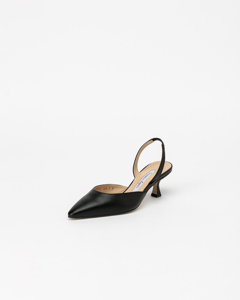 Laplaine Slingbacks in Black Lamb