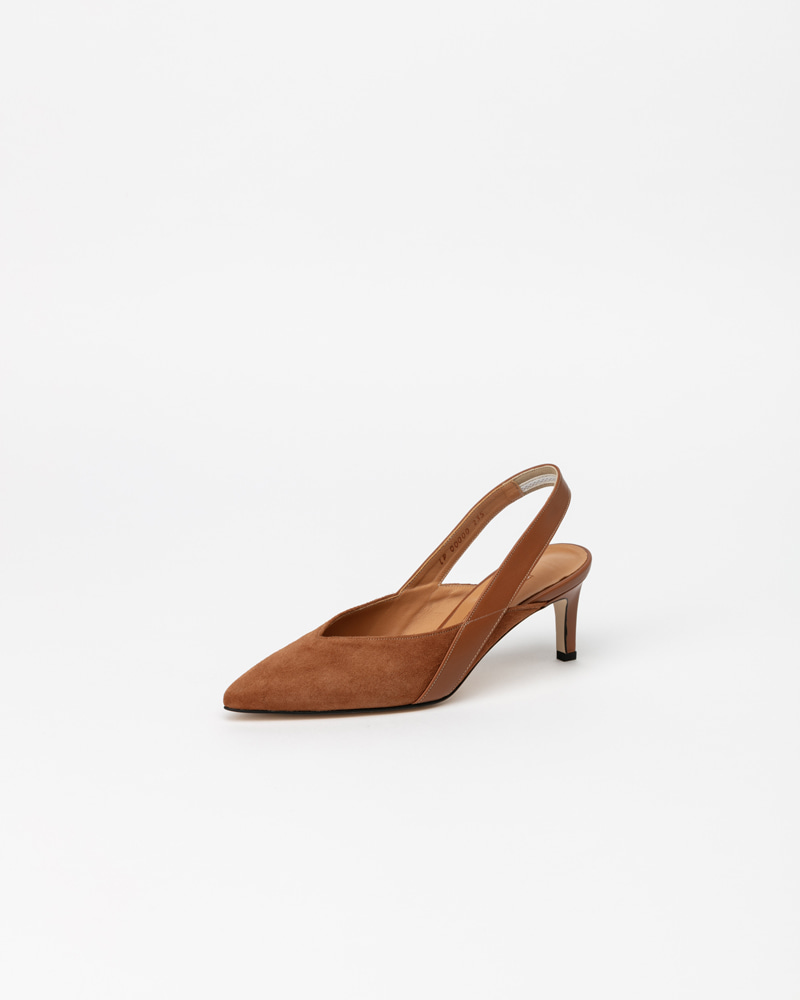 Persiana Slingbacks in Brown Suede
