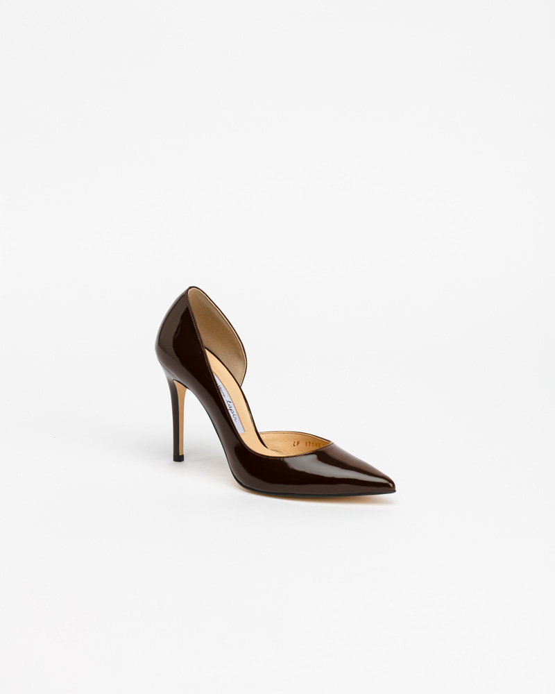 Lecote Pumps in Dark Brown Patent