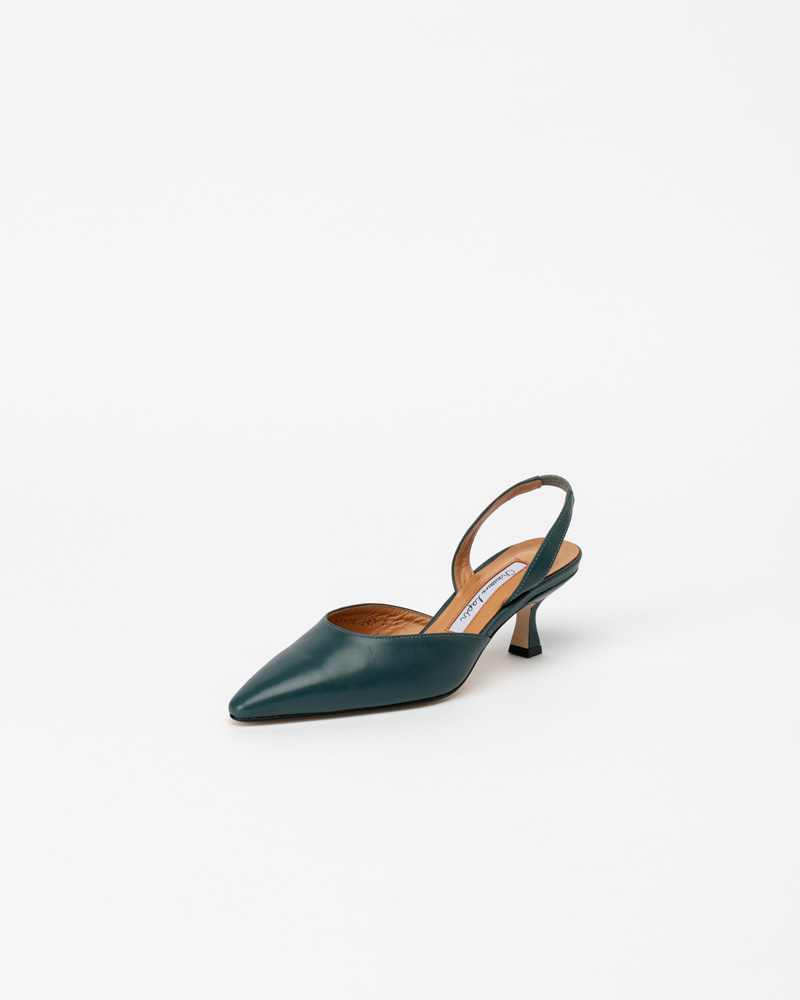 Laplaine Slingbacks in Blue Calf
