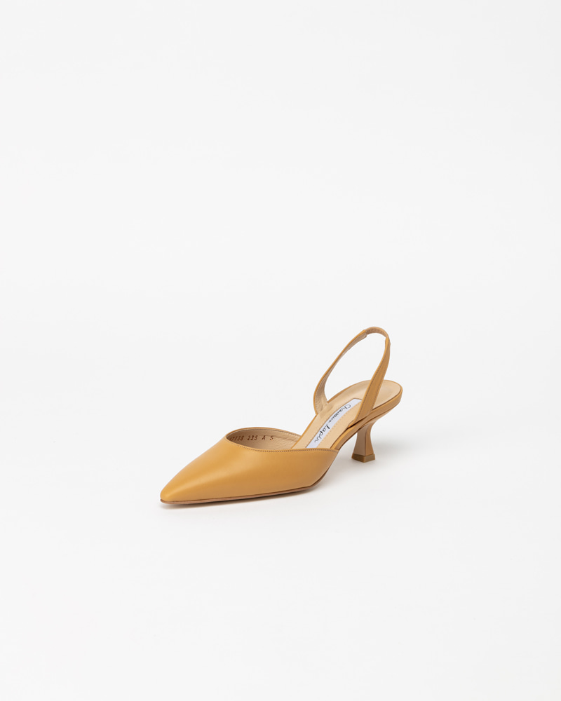 Laplaine Slingbacks in Yellow Calf