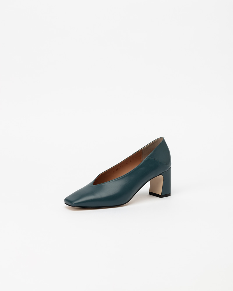 Michelle Pumps in Greenish Blue Calf