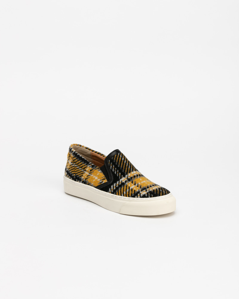 Beniton Sneakers in Yellow Checquer