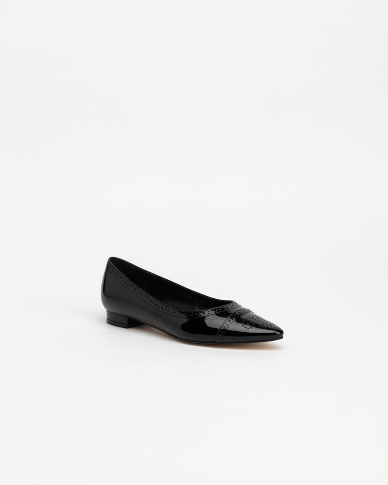 Hellebore Flat Shoes in Black