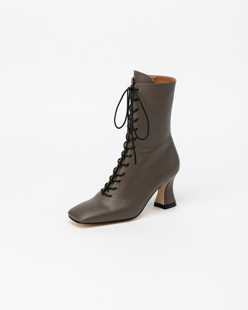 Riley Lace-up Boots in Solid Grey