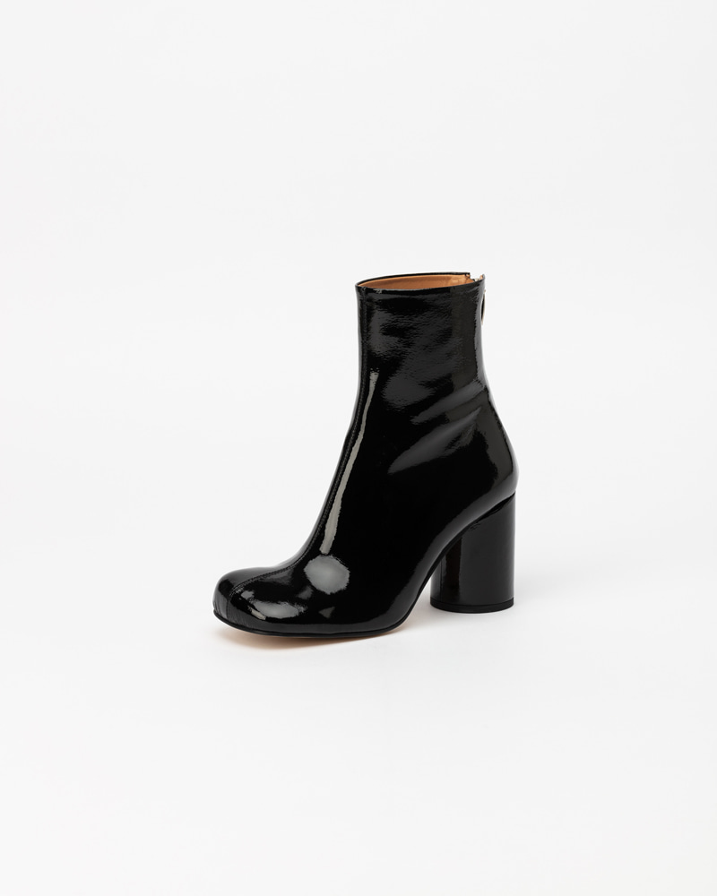 Croll Boots in Black Soft Patent