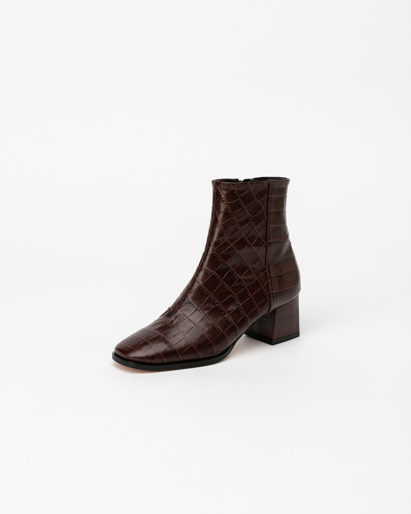 Lykita Boots in Brown Croco