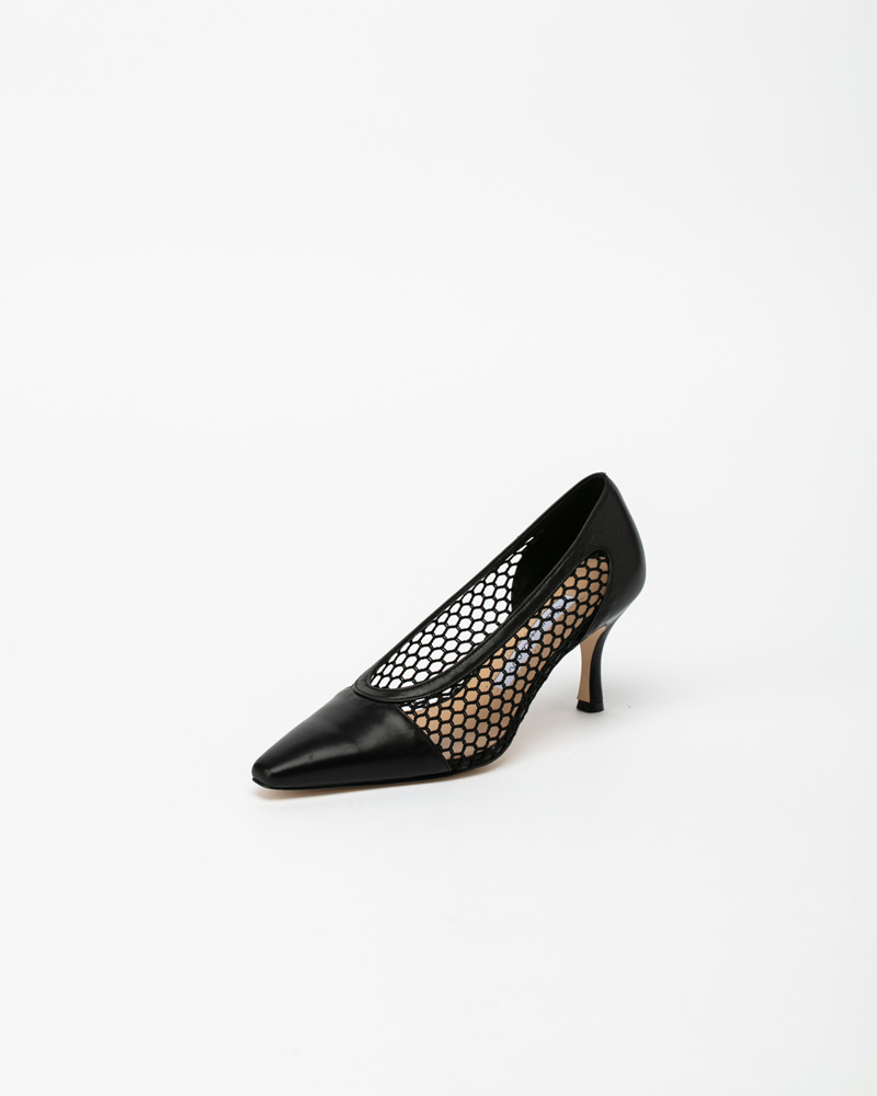 Matias Pumps in Black Calf Leather