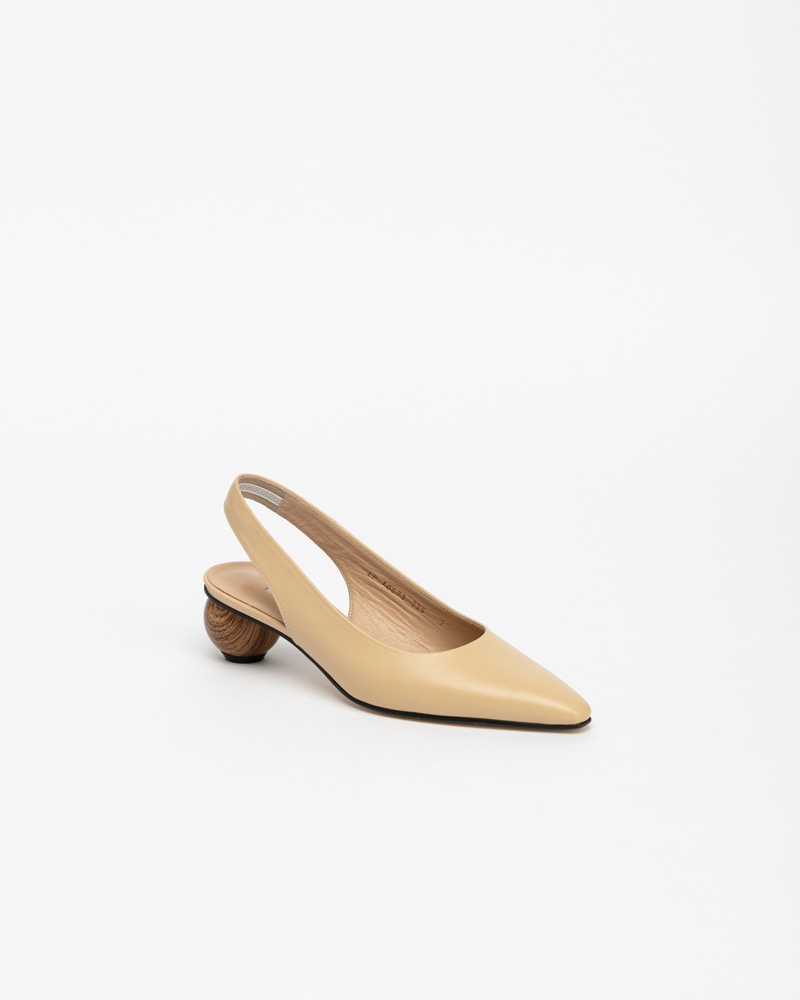 Himena Slingbacks in Beige Leather