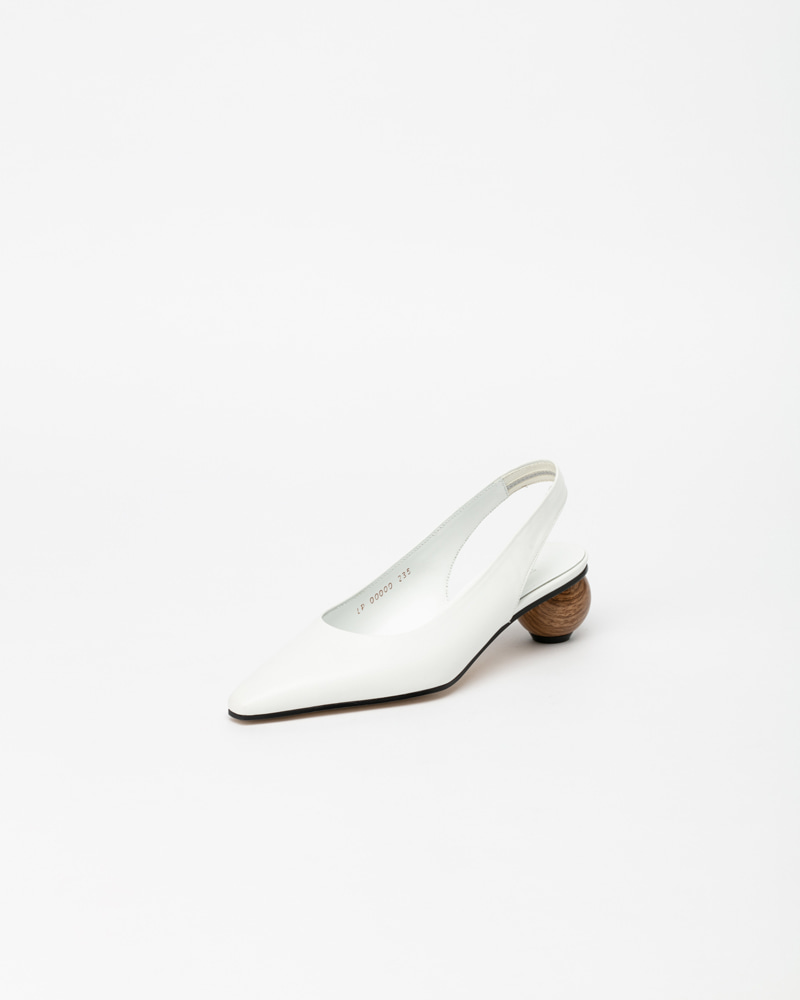 Himena Slingbacks in White Leather