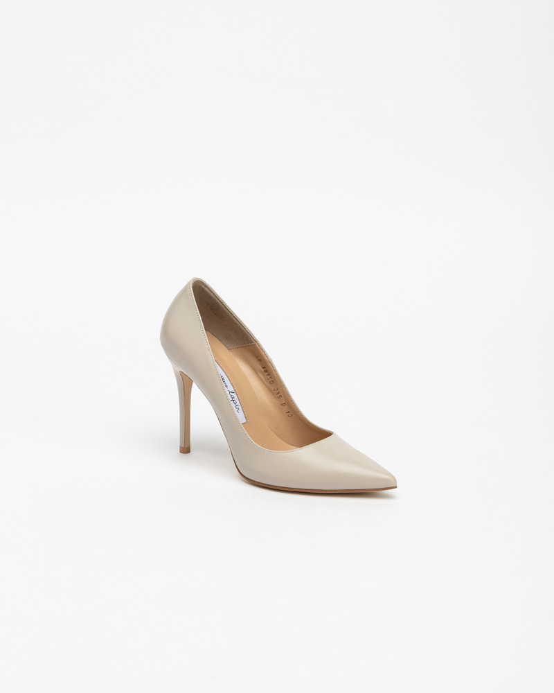 Naive Pumps in Light Grey Leather
