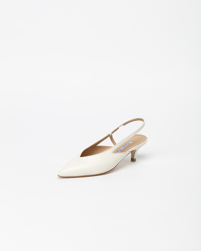 Felar Slingbacks in White Leather