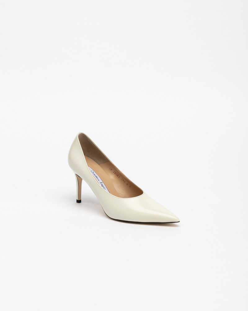Rhea Pumps in Ivory Box Leather