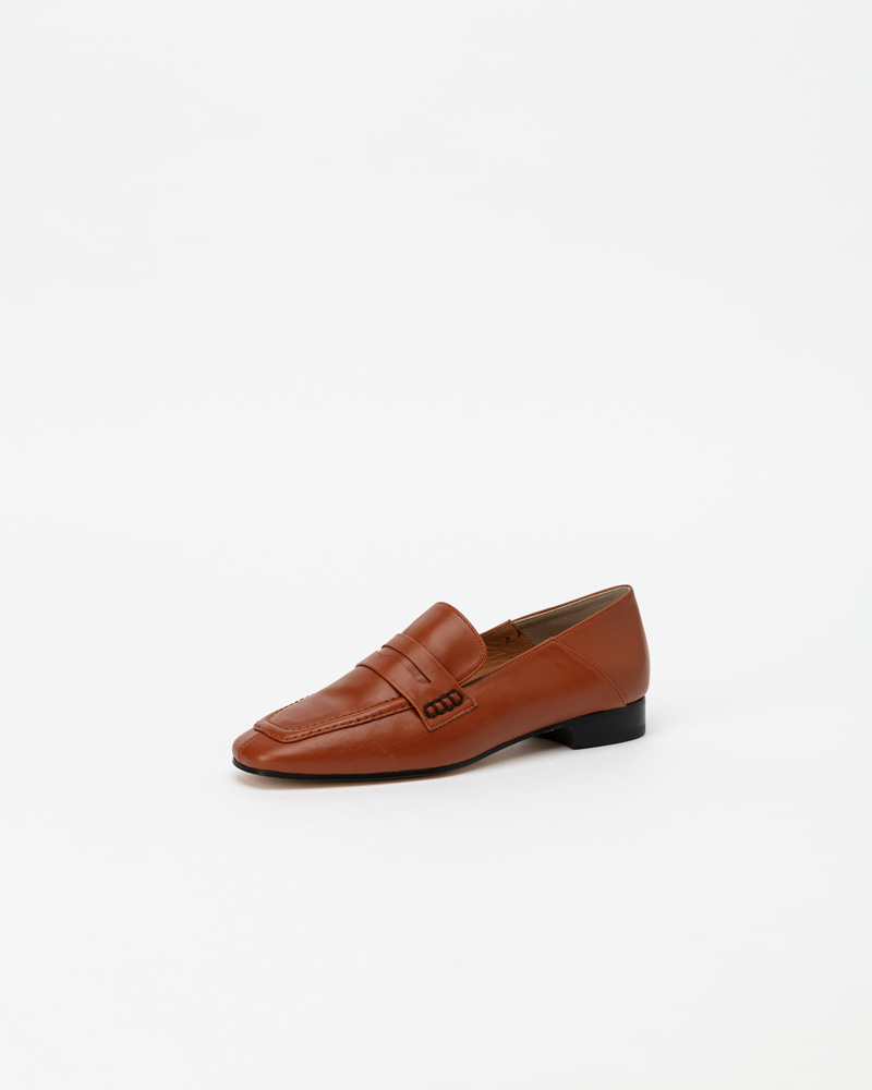 Sansal Loafers in Camel Brown Calf