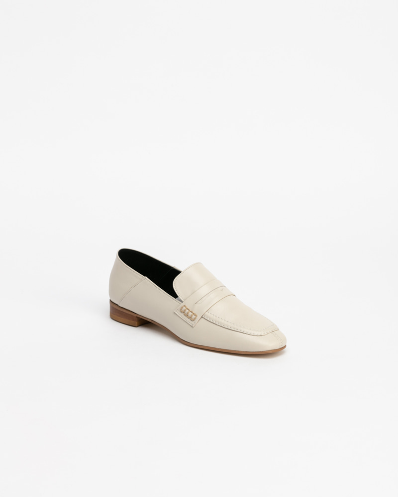 Sansal Loafers in Ivory Calf