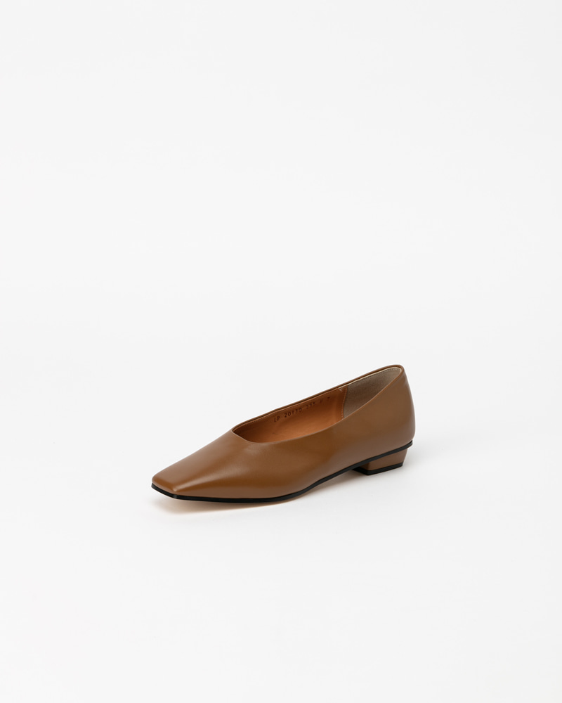Honoria Flat in Olive Cream Brown