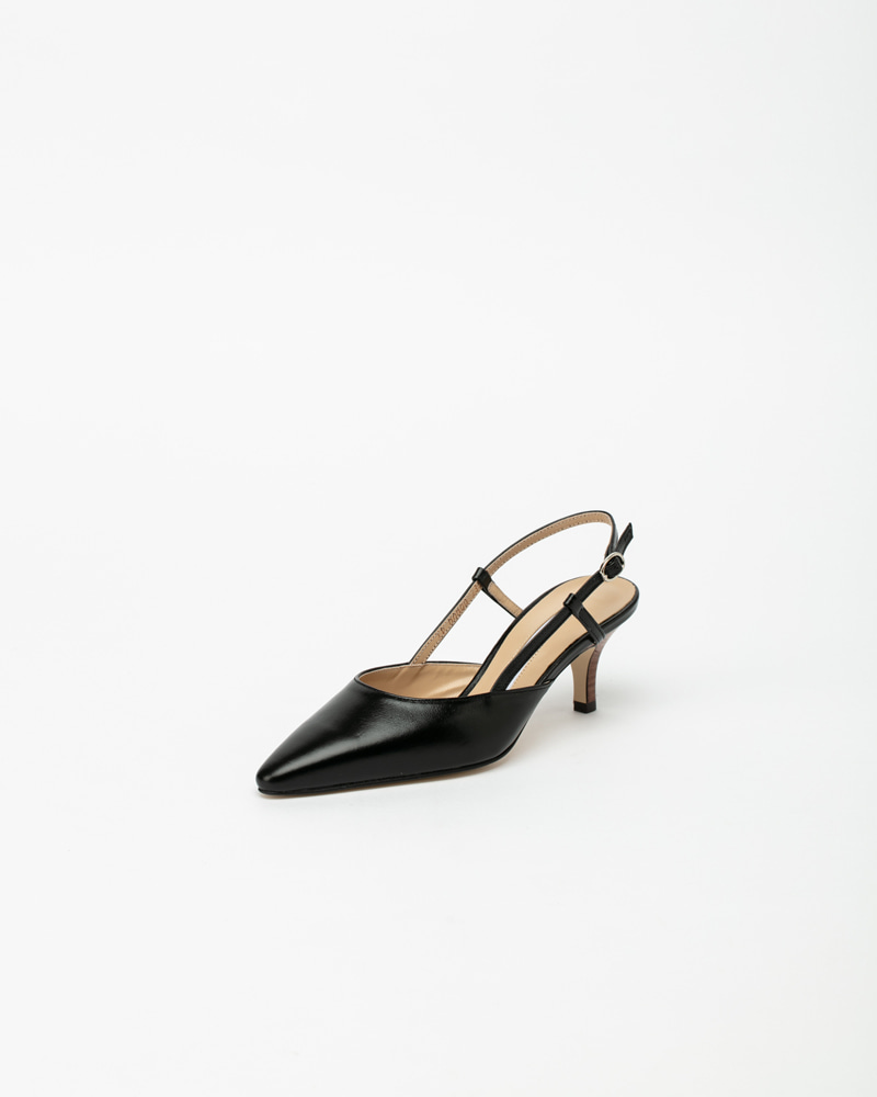 Musette Slingbacks in Black