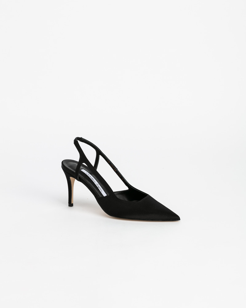 Roxanne Slingbacks in Black Silk