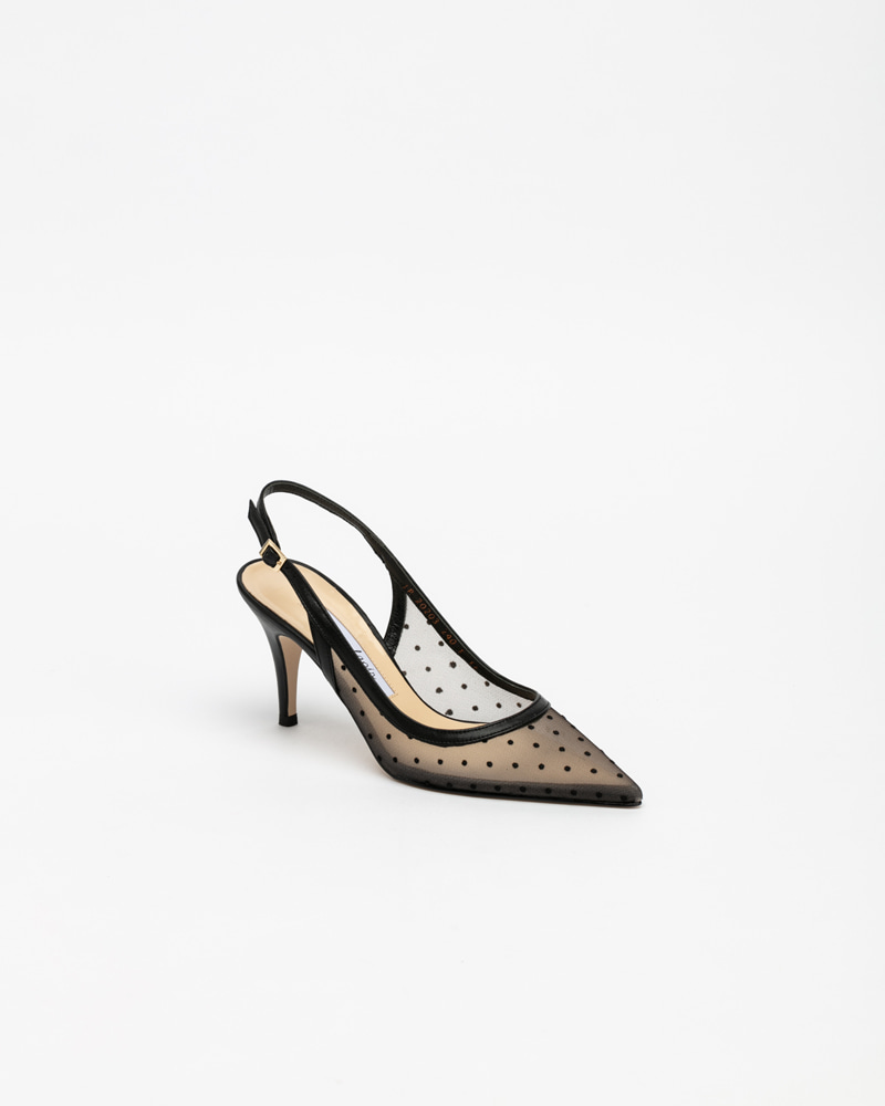 Fay Slingbacks in Black Dots