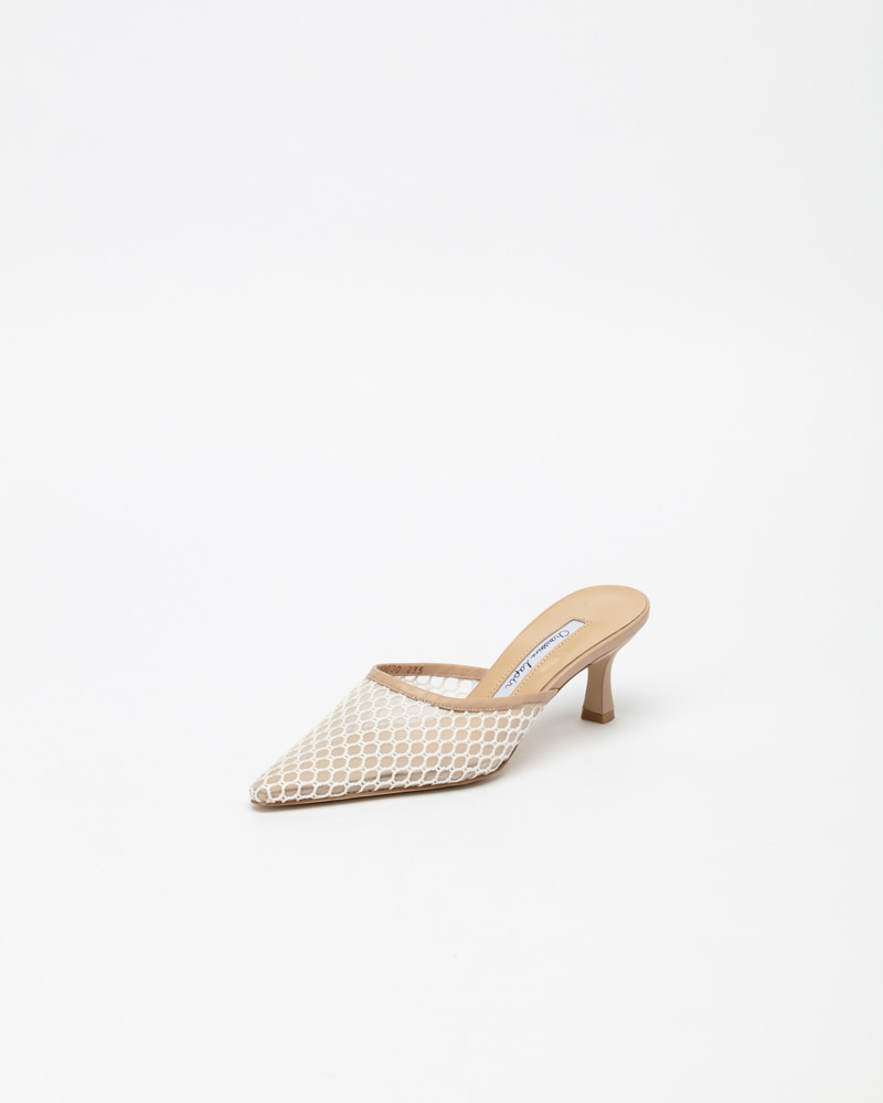 Neta Mules in White Meshes