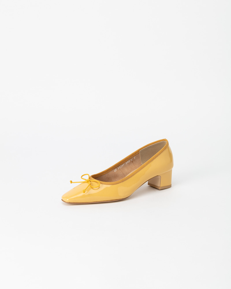 Rayola Flat Pumps in Yellow