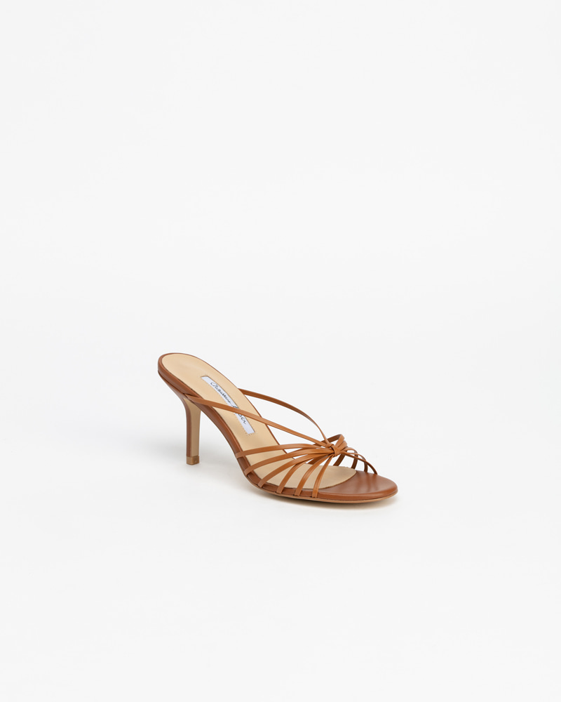 Cesare Mule Sandals in Camel