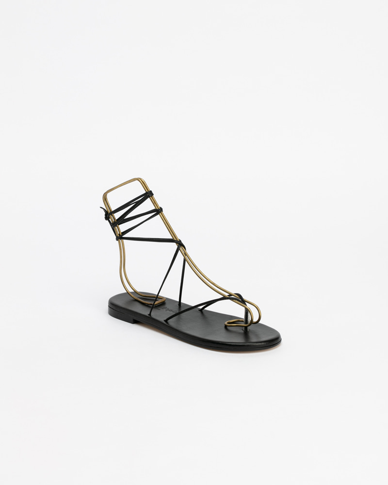 Mimosa Gladiator Sandals in Black