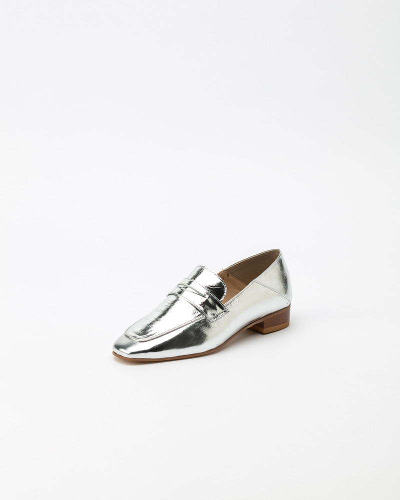 Heron Loafers in Silver