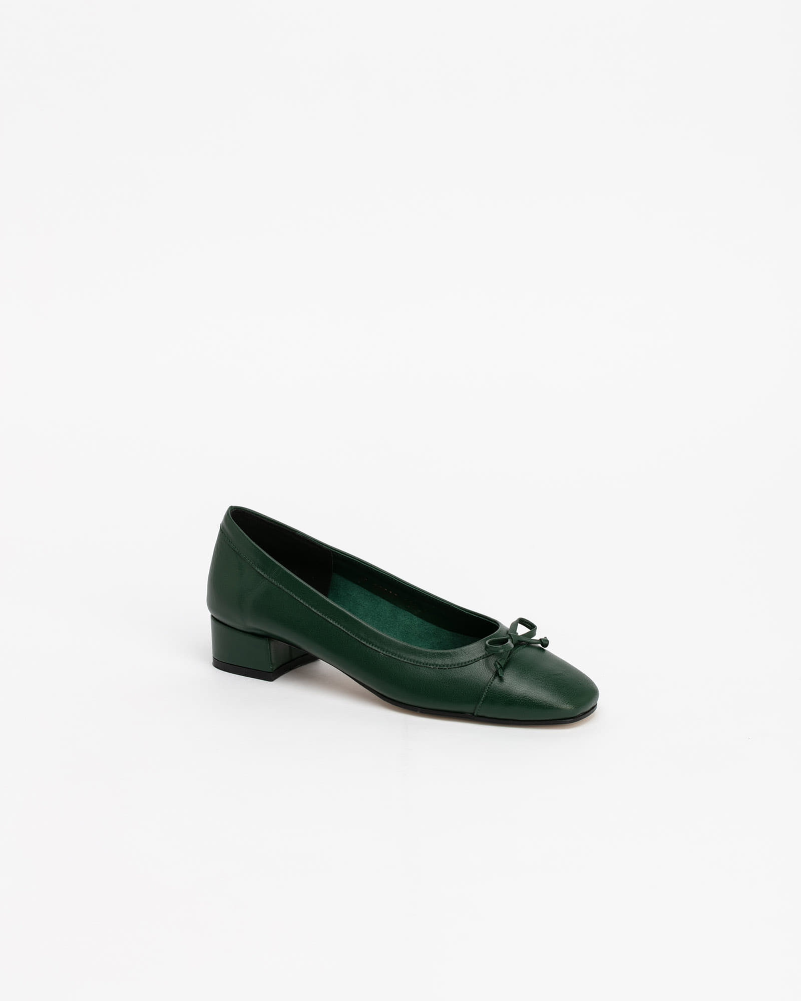 Alice Soft Ballerinas in Forest Green
