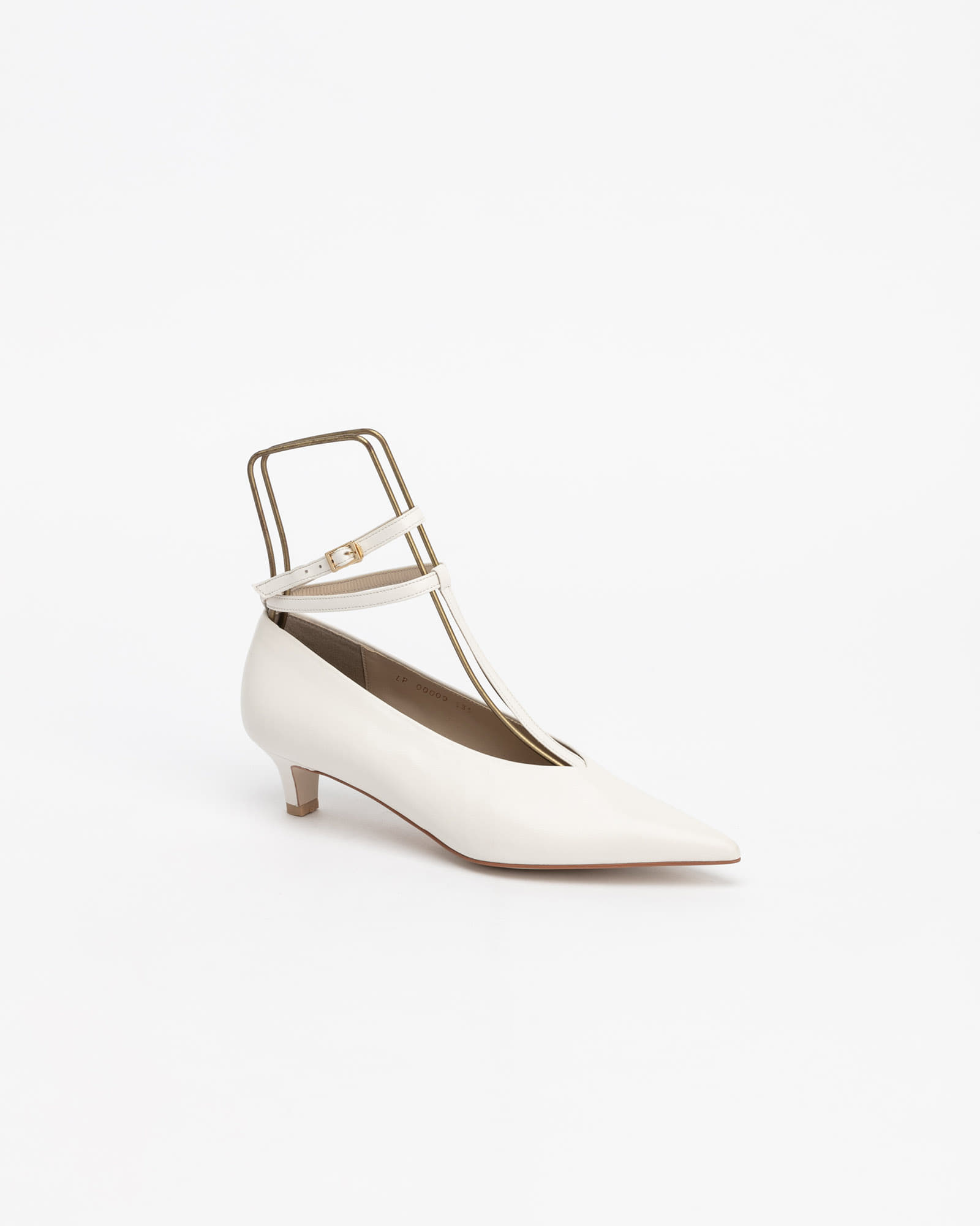 Aether T-Strap Pumps in Pure White