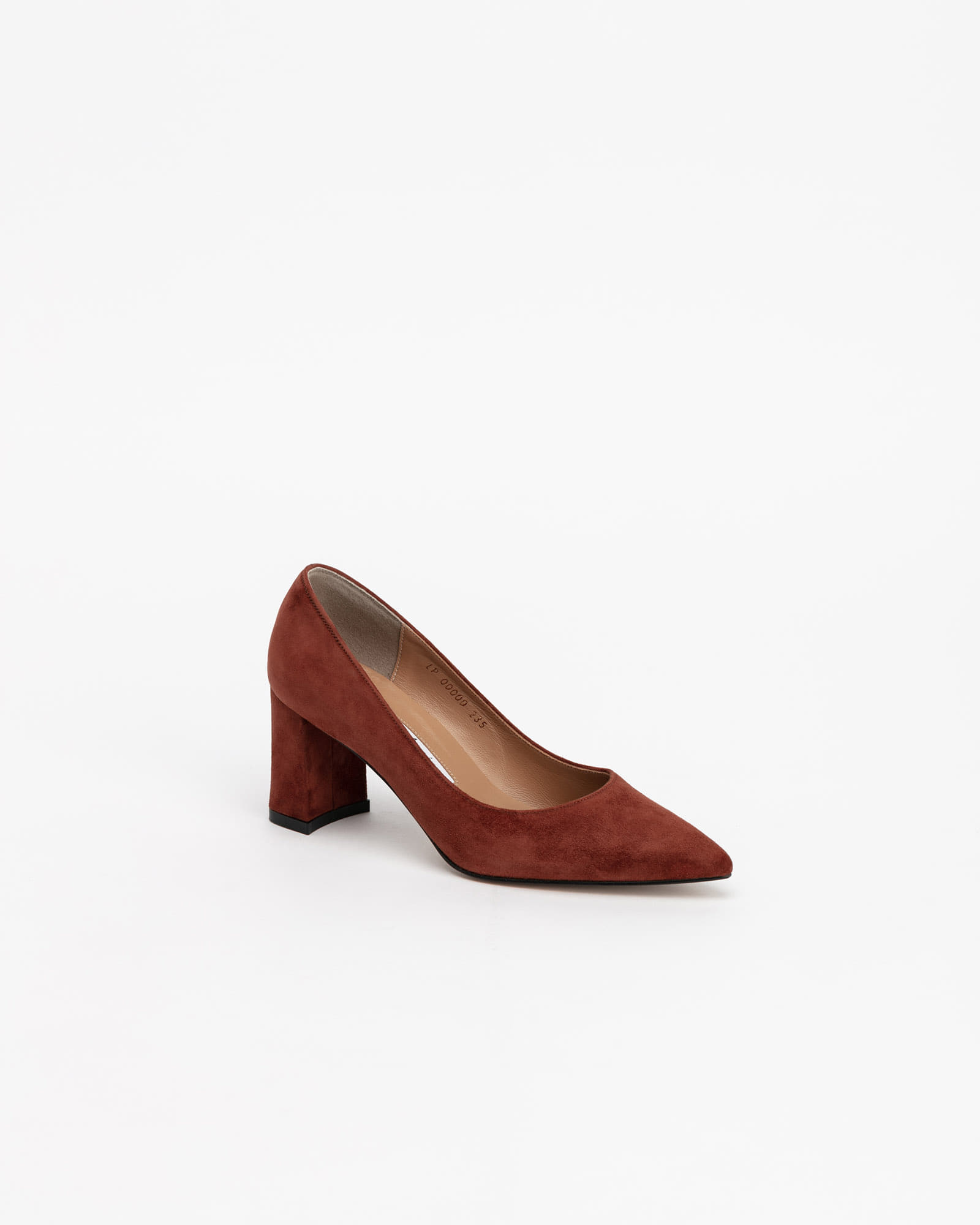 Naff Pumps in Chestnut Brown Suede