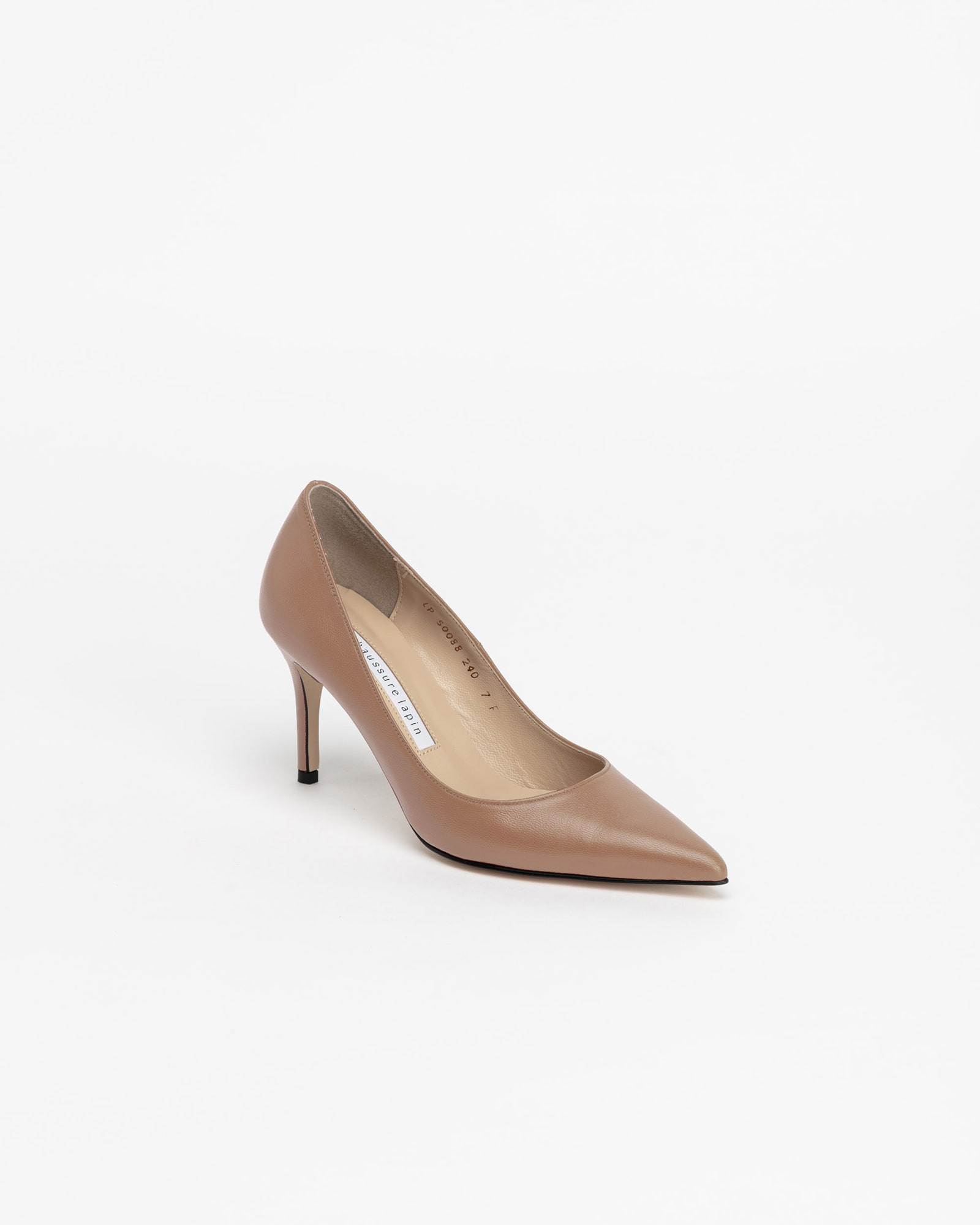 Chauffeur Stilletto Pumps in Pinky Beige
