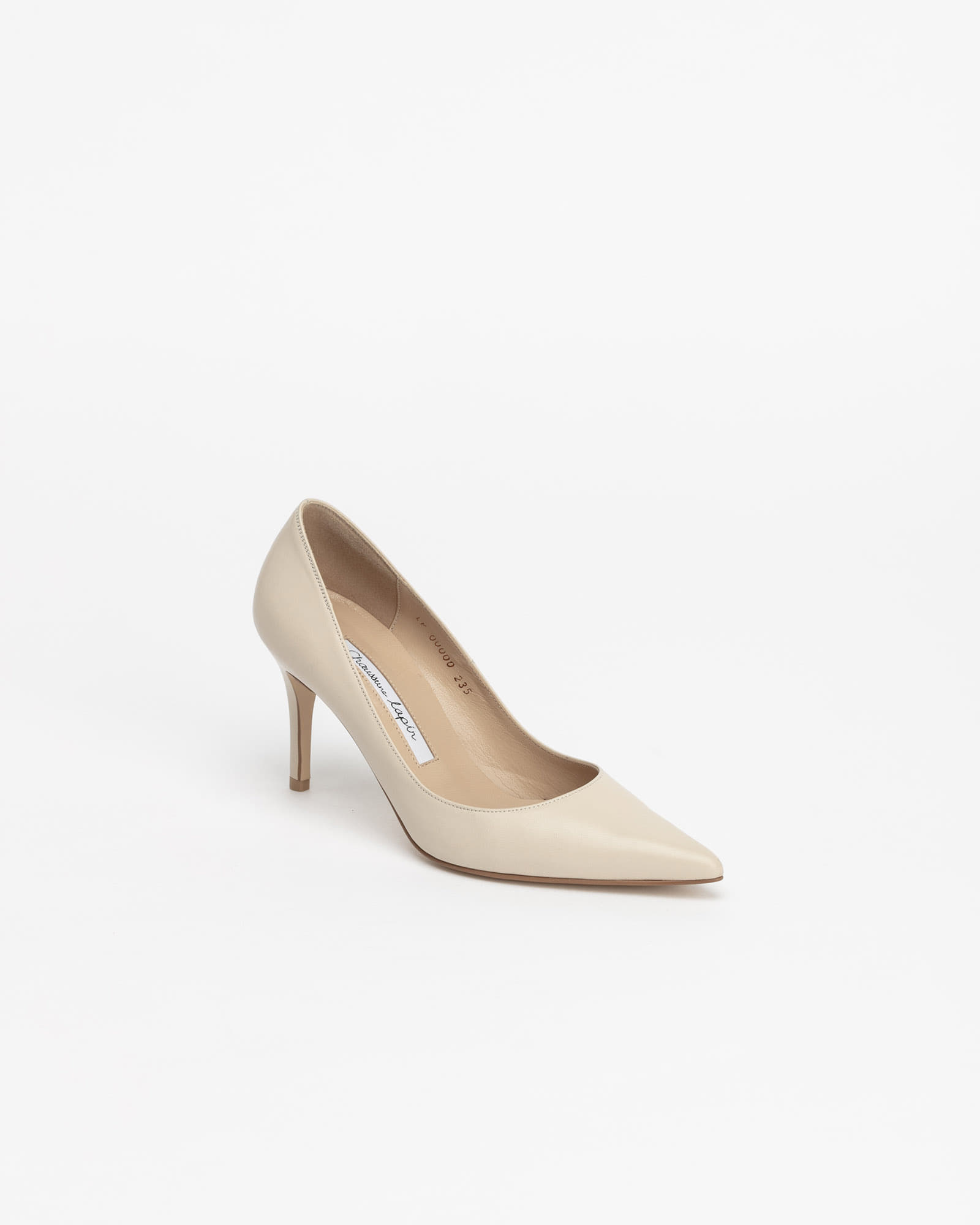 Chauffeur Stiletto Pumps in Ivory