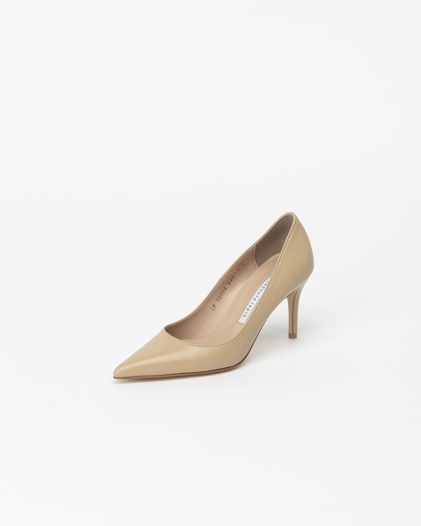 Chauffeur Stiletto Pumps in Yellow Beige