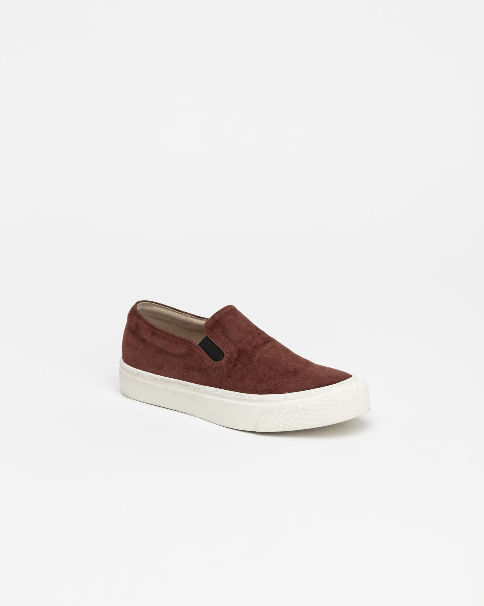 Palo Slip-on Sneakers in Chestnut Brown Suede