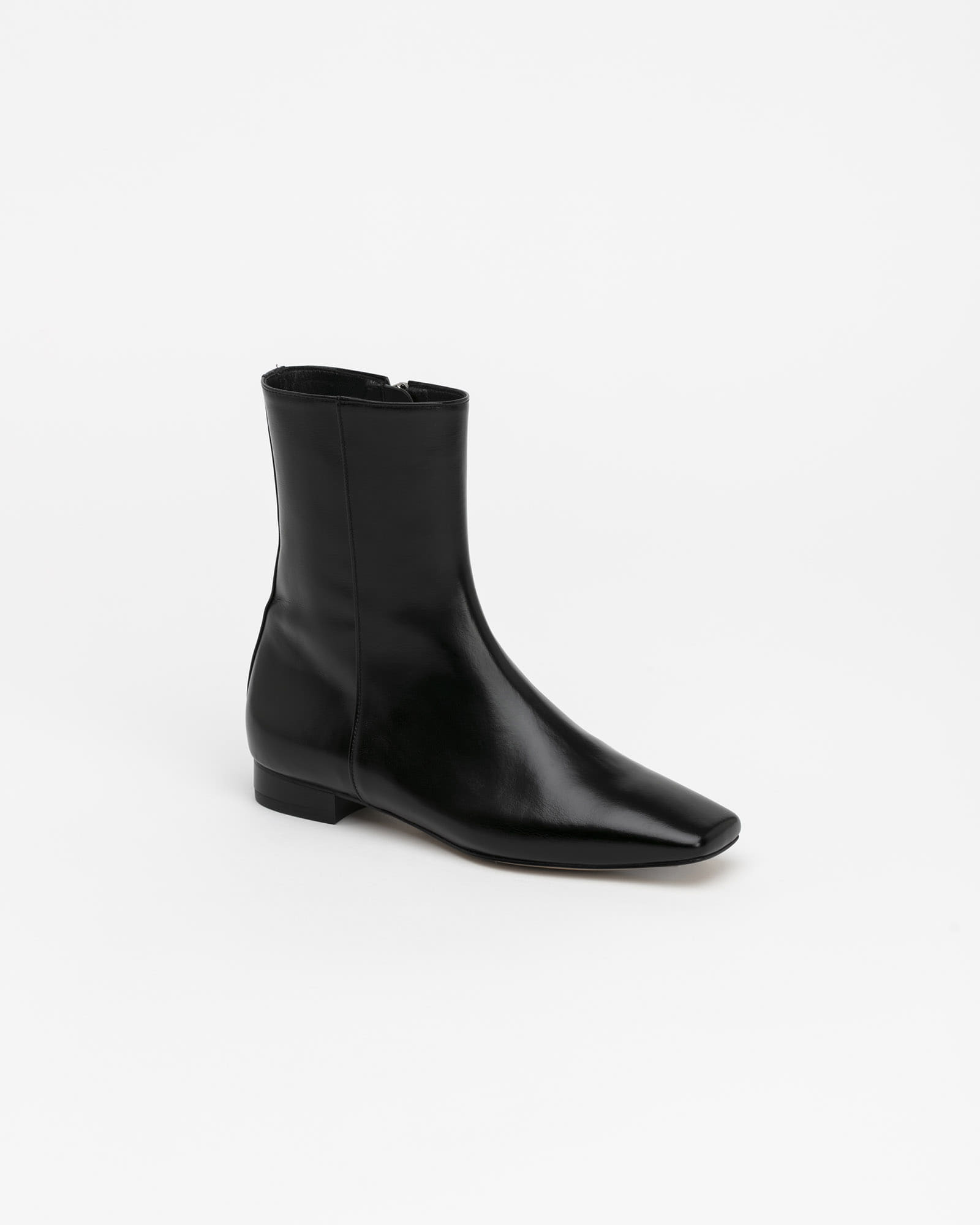 Sologram Flat Boots in Textured Black