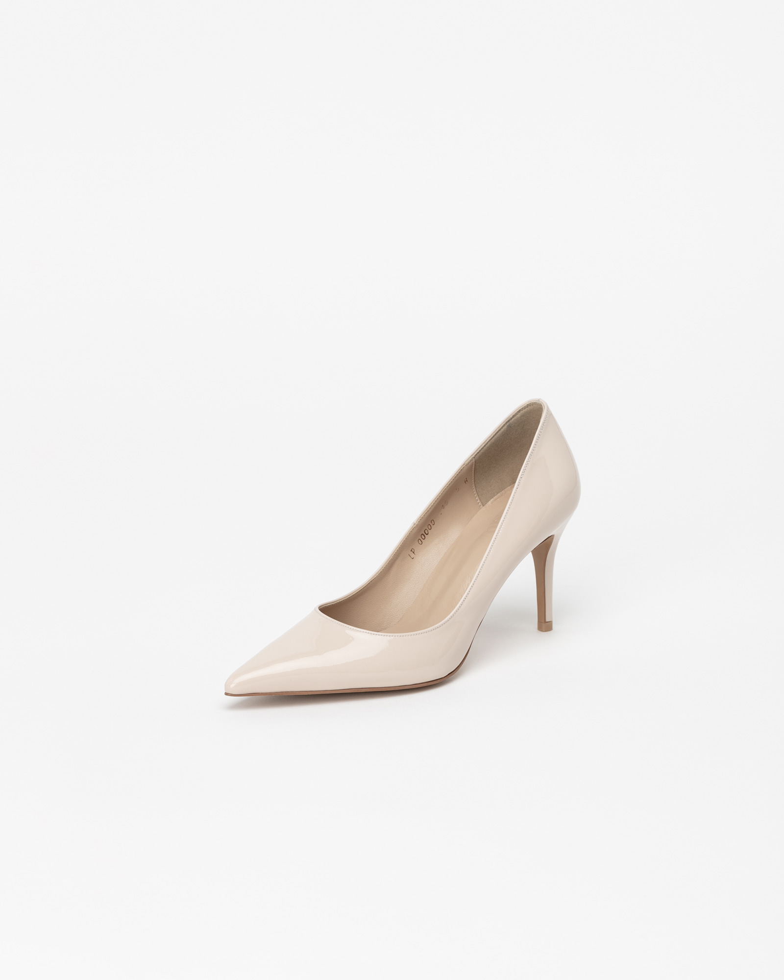 Chauffeur Stilletto Pumps in Pinkish Ivory Patent
